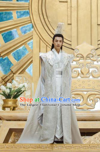 Chinese Ancient Emperor Clothing The Honey Sank Like Frost King Costumes and Headpiece for Men