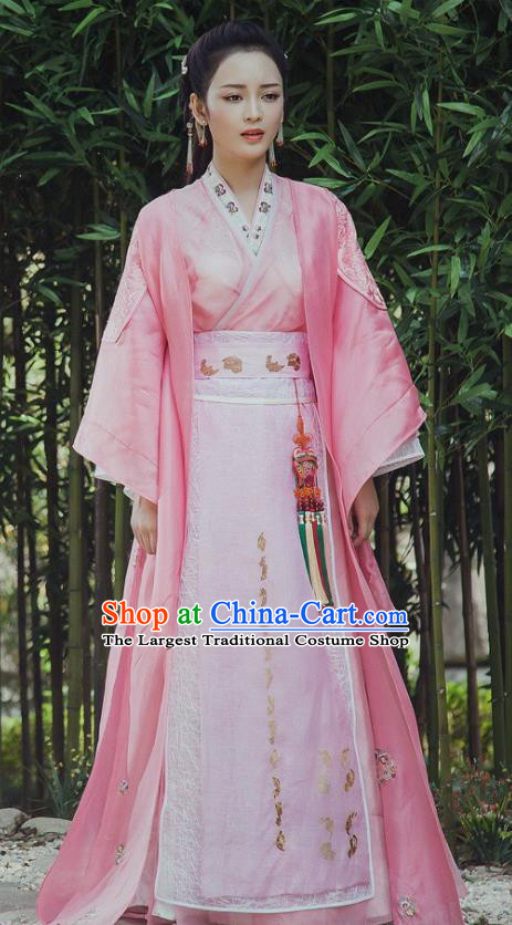 Chinese Ancient Palace Princess Hanfu Dress The Honey Sank Like Frost Peri Costumes for Women
