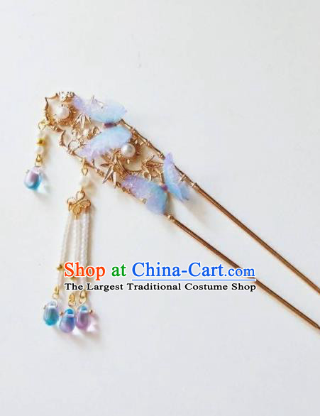 Chinese Ancient Qing Dynasty Hair Accessories Palace Golden Hairpins for Women
