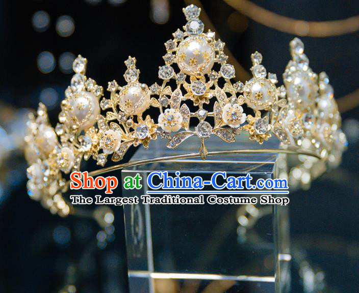 Top Grade Wedding Hair Accessories Baroque Princess Retro Crystal Royal Crown for Women