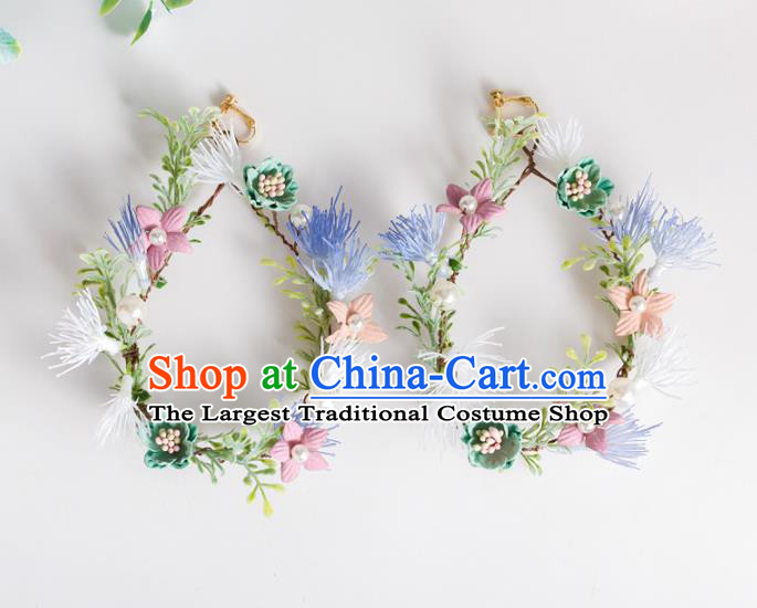 Top Grade Chinese Bride Wedding Accessories Flowers Earrings for Women