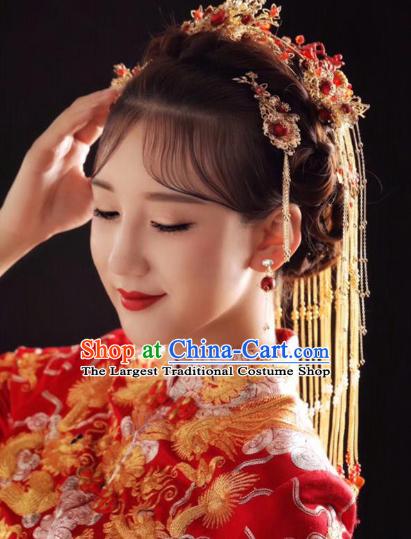 Chinese Traditional Wedding Bride Hair Accessories Ancient Hairpins for Women