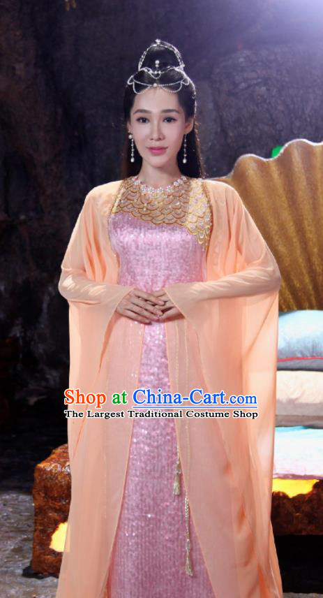 The Honey Sank Like Frost Chinese Ancient Princess Hanfu Dress Peri Costumes for Women