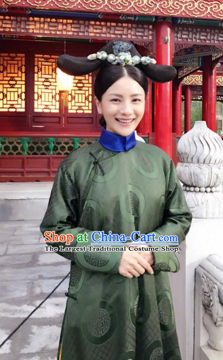 Ruyi Royal Love in the Palace Chinese Ancient Imperial Consort Costume and Headpiece Complete Set