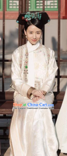 Ruyi Royal Love in the Palace Chinese Ancient Qing Dynasty Empress Costume and Headpiece Complete Set