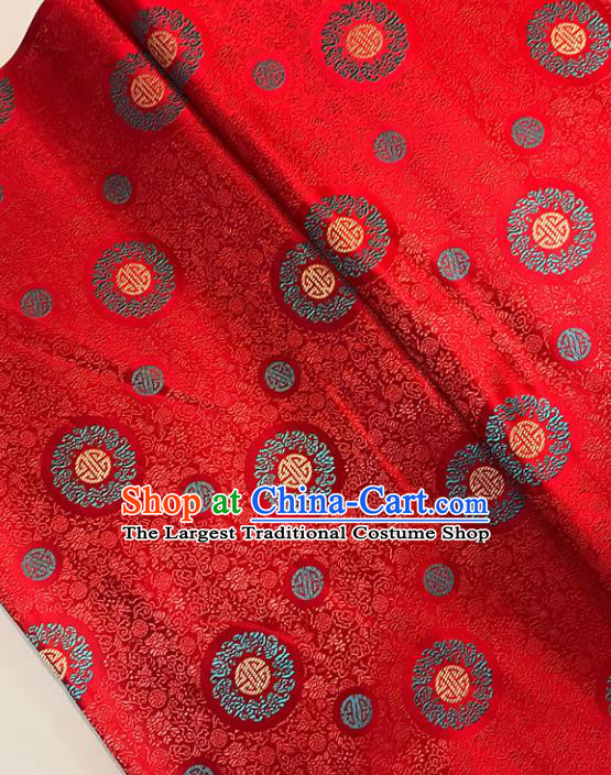 Asian Chinese Traditional Palace Pattern Red Brocade Fabric Silk Fabric Chinese Fabric Material