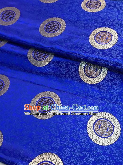 Blue Brocade Asian Chinese Traditional Cheongsam Fabric Silk Fabric Chinese Fabric Material