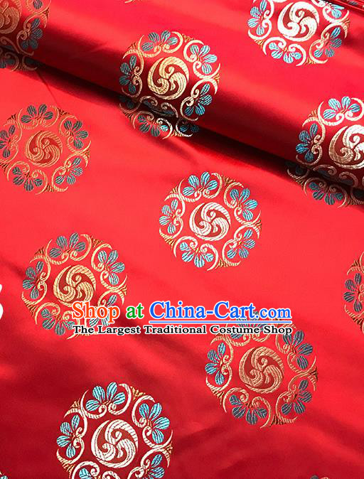 Red Brocade Asian Chinese Traditional Pattern Fabric Silk Fabric Chinese Fabric Material