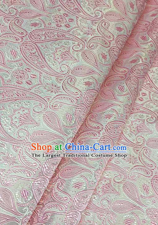 Asian Chinese Brocade Traditional Pink Pattern Fabric Silk Fabric Chinese Fabric Material