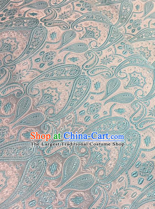 Asian Chinese Brocade Traditional Light Green Pattern Fabric Silk Fabric Chinese Fabric Material