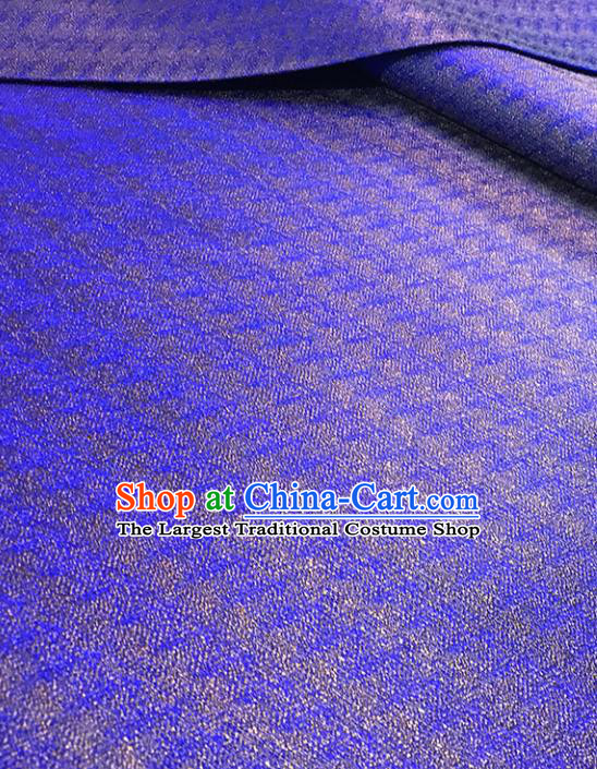 Asian Chinese Traditional Blue Brocade Fabric Silk Fabric Chinese Fabric Material