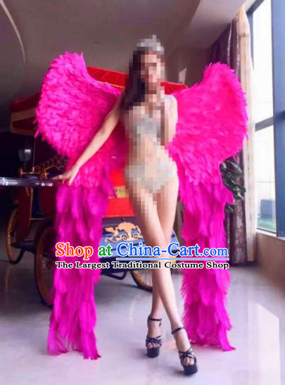 Stage Performance Brazilian Carnival Rosy Feather Wings Miami Deluxe Feather Wings for Women