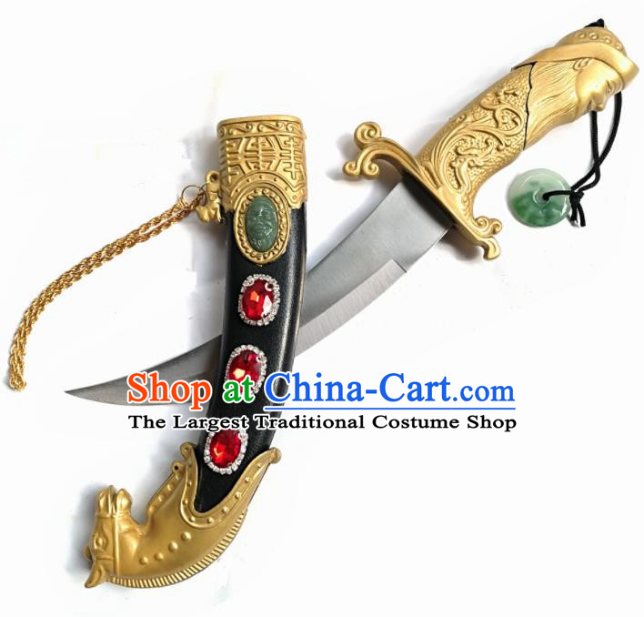 Chinese Traditional Beijing Opera Prop Diva Uyghur Nationality Dagger Swords