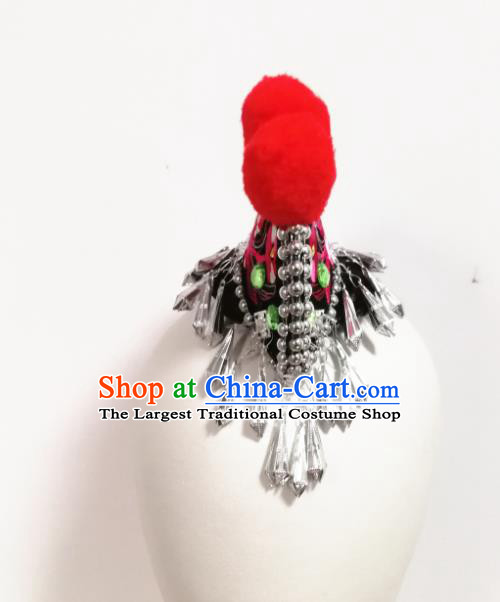 Chinese Traditional Folk Dance Cockscomb Hair Accessories Classical Dance Headwear for Women