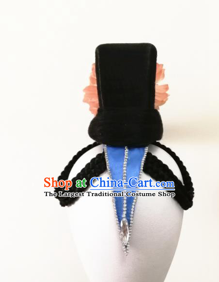 Chinese Traditional Folk Dance Wig and Hair Accessories Classical Dance Headwear for Women