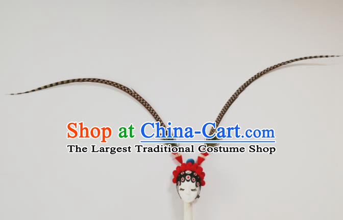 Chinese Traditional Beijing Opera Hat Folk Dance Headwear for Women