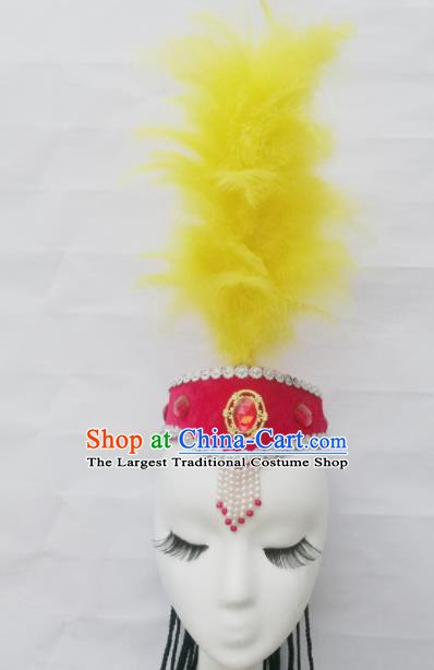 Chinese Traditional Classical Dance Hair Accessories Uyghur Nationality Dance Hat Headwear for Women