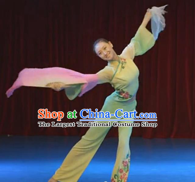 Chinese Traditional Folk Dance Yangko Costume Classical Dance Fan Dance Clothing for Women