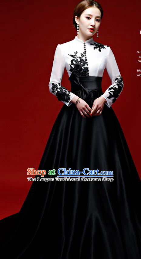 Top Grade Catwalks Trailing Full Dress Compere Chorus Costume for Women