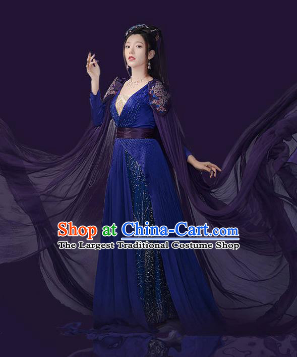 Chinese Ancient Apsara Hanfu Clothing Imperial Consort Costumes for Women
