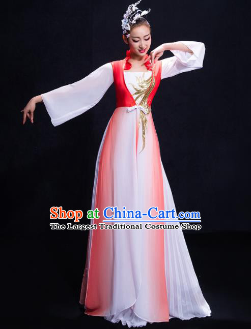 Chinese Traditional Fan Dance Classical Dance Dress Umbrella Dance Costume for Women