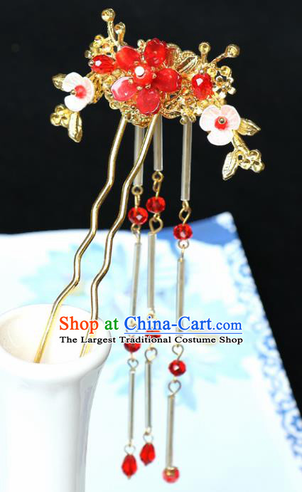 Chinese Traditional Hair Accessories Ancient Tassel Hairpins for Women