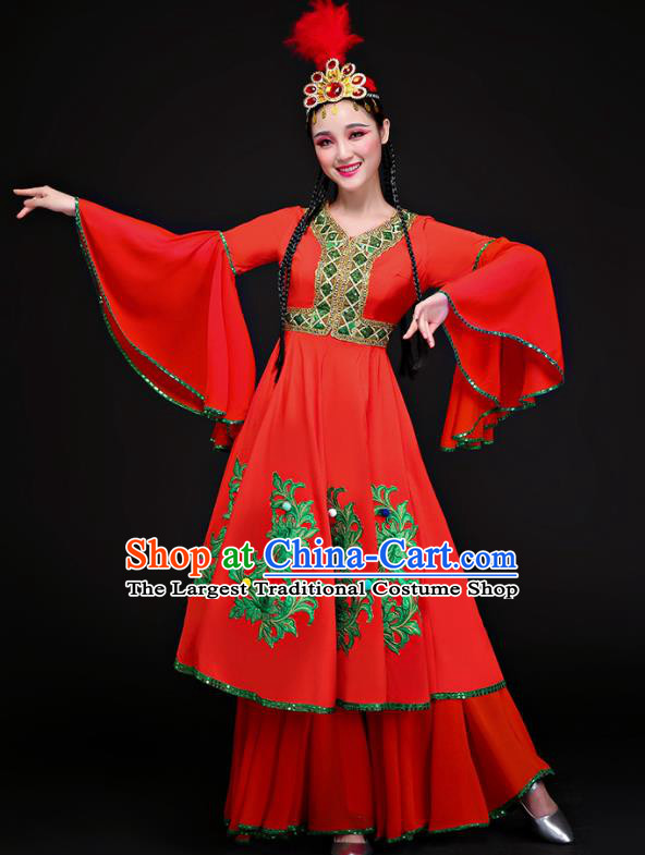 Chinese Traditional Uyghur Nationality Dance Clothing Classical Dance Costume for Women