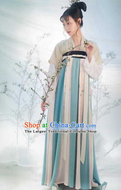 Traditional Chinese Tang Dynasty Princess Costumes Ancient Fairy Embroidered Hanfu Dress for Women