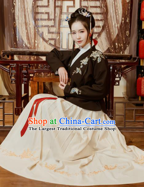 Traditional Chinese Ming Dynasty Princess Embroidered Costumes Complete Set for Rich Women