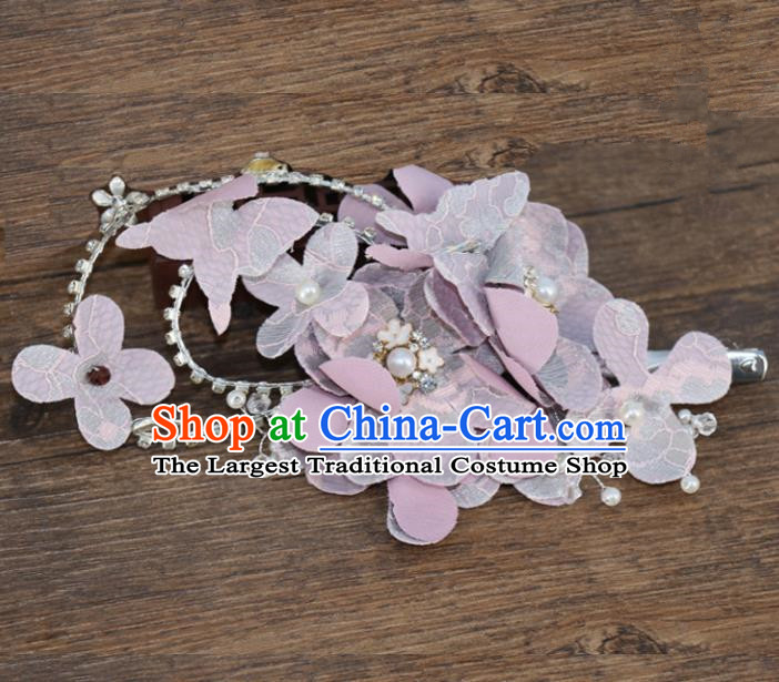 Chinese Traditional Hair Accessories Ancient Hanfu Purple Flowers Hair Stick for Women