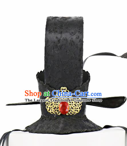 Chinese Traditional Hair Accessories Ancient Emperor Hairdo Crown Headwear for Kids