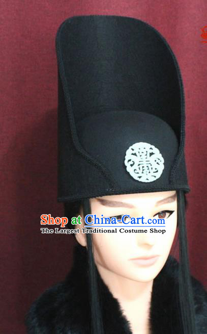 Chinese Traditional Tang Dynasty Swordsman Hats Hair Accessories Ancient Imperial Bodyguard Hat for Men