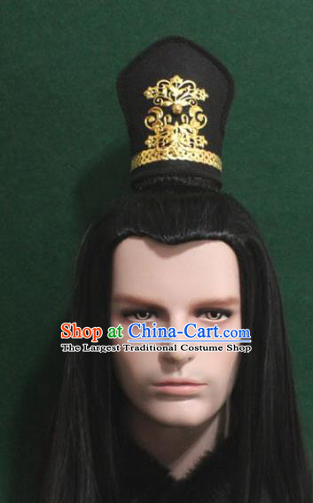 Chinese Traditional Swordsman Hair Accessories Ancient Tang Dynasty Prince Hairdo Crown for Men