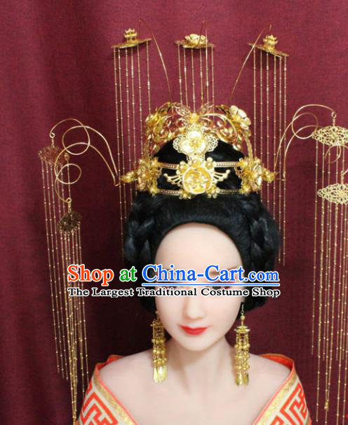 Chinese Ancient Empress Handmade Hair Accessories Phoenix Coronet Hairpins for Women