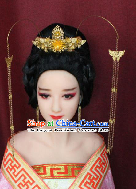 Chinese Traditional Handmade Hair Accessories Ancient Hair Coronet Hairpins for Women