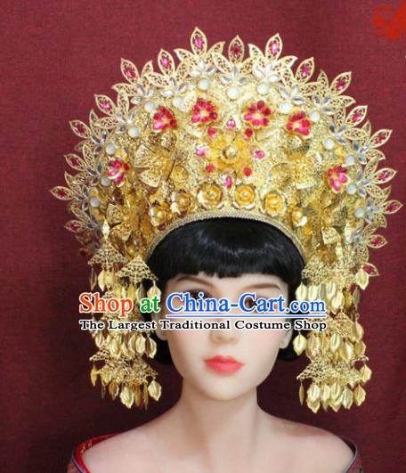 Chinese Handmade Tang Dynasty Phoenix Coronet Ancient Court Hair Accessories Hats for Women