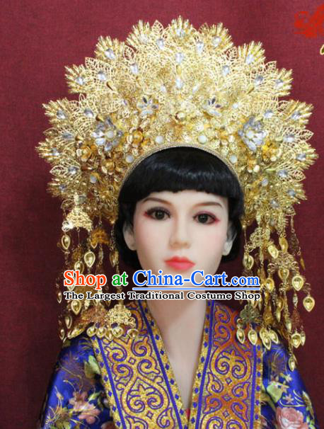 Chinese Handmade Tang Dynasty Queen Phoenix Coronet Ancient Court Hair Accessories Hats for Women