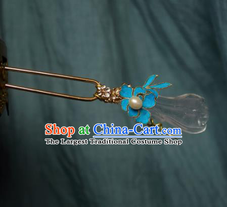 Chinese Handmade Princess Spray Jade Hairpins Ancient Hair Clip Hair Accessories for Women