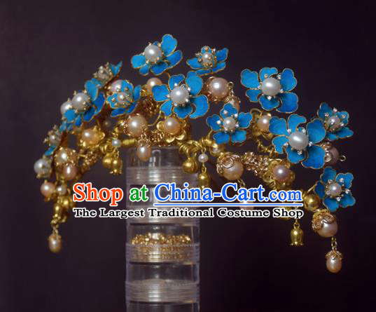 Chinese Handmade Princess Hanfu Pearls Hair Comb Hairpins Ancient Hair Accessories for Women