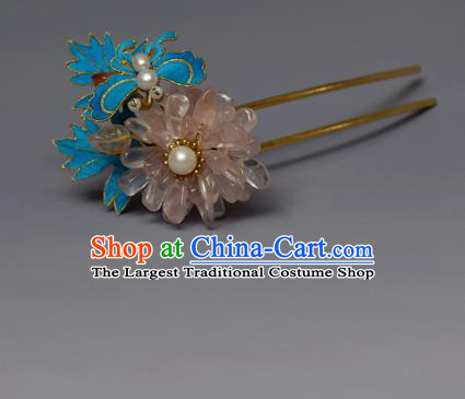 Chinese Ancient Qing Dynasty Hair Clip Hair Accessories Handmade Hairpins for Women
