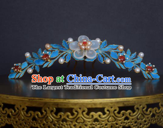 Chinese Handmade Princess Hanfu Hairpins Flowers Hair Comb Ancient Hair Accessories for Women