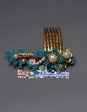 Chinese Ancient Qing Dynasty Palace Hair Comb Hair Accessories Handmade Hairpins for Women