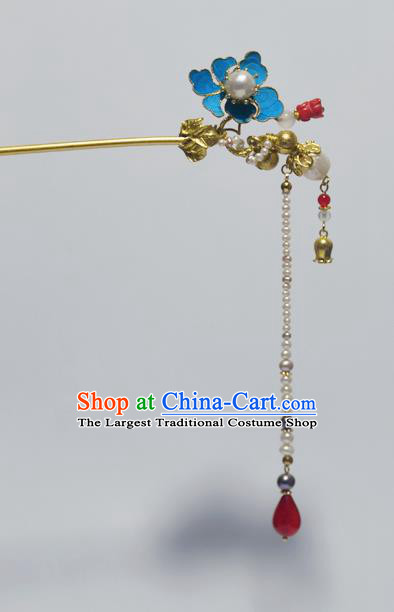 Chinese Ancient Qing Dynasty Palace Tian-Tsui Hair Clip Hair Accessories Handmade Hairpins for Women