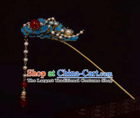 Chinese Ancient Qing Dynasty Hair Accessories Handmade Palace Tian-Tsui Hairpins for Women