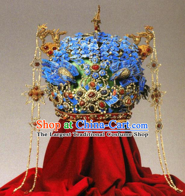 Chinese Handmade Ming Dynasty Queen Hairpins Ancient Bride Phoenix Coronet Hair Accessories for Women