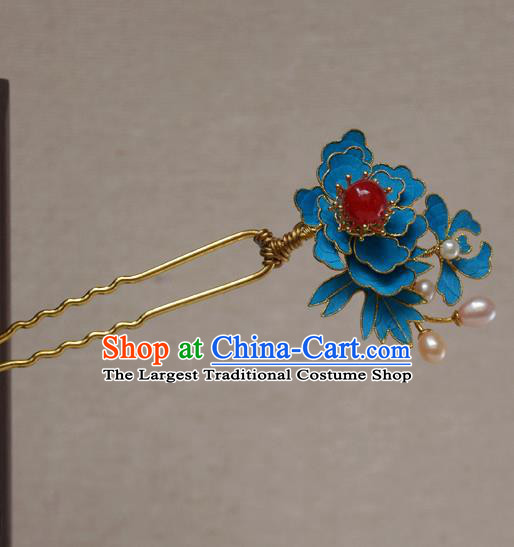 Chinese Qing Dynasty Palace Hairpins Hair Accessories Ancient Handmade Hanfu Hair Clip for Women