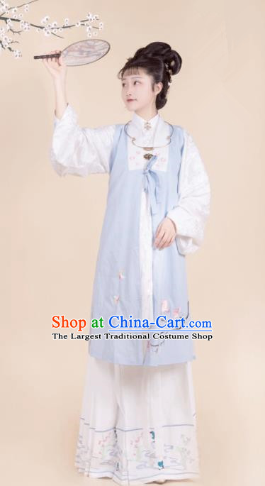 Chinese Ancient Hanfu Dress Ming Dynasty Nobility Lady Embroidered Costumes for Women
