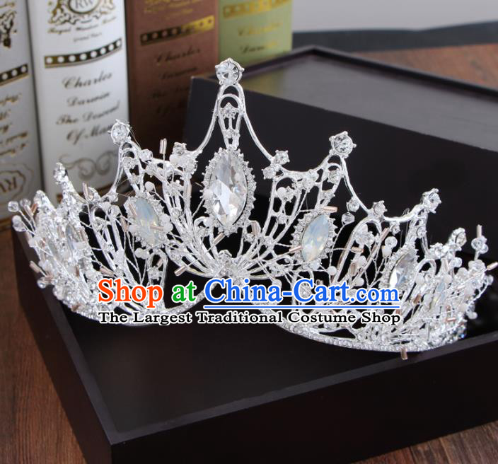 Top Grade Bride Hair Accessories Crystal Royal Crown for Women