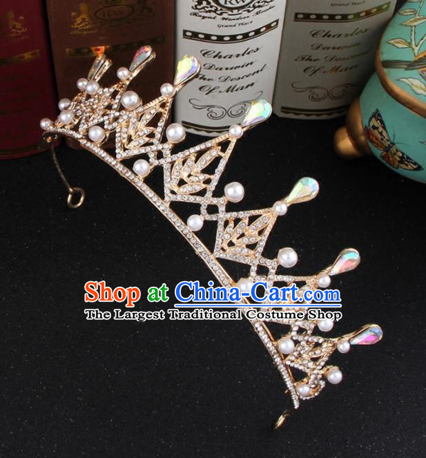 Top Grade Bride Hair Accessories Wedding Baroque Princess Crystal Royal Crown for Women