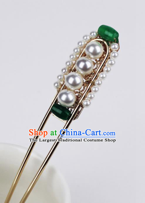 Chinese Ancient Handmade Pearls Hairpins Hair Accessories Hair Clips for Women